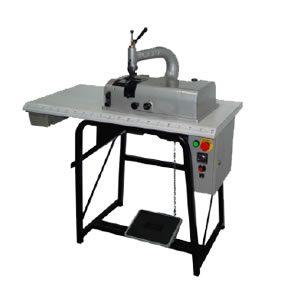 Máquina para rebajar piel y materiales sintéticos