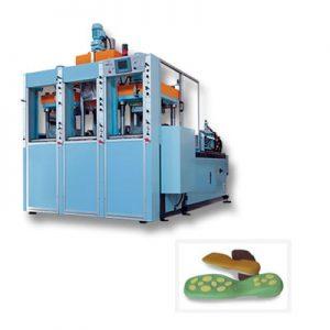 Máquina estática para la producción de suelas bicolores y multicolores